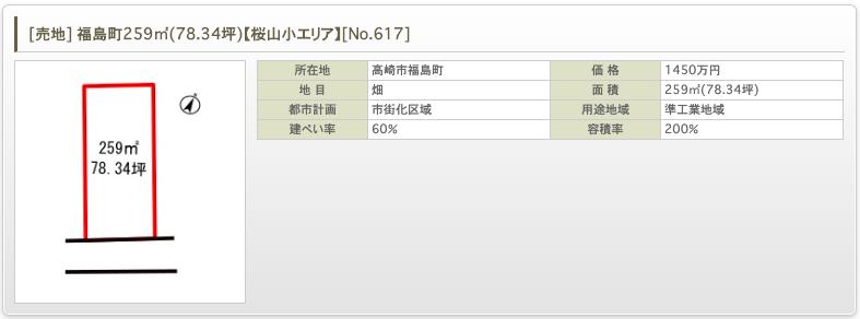 [売地] 福島町259㎡(78.34坪)【桜山小エリア】 [No.617]