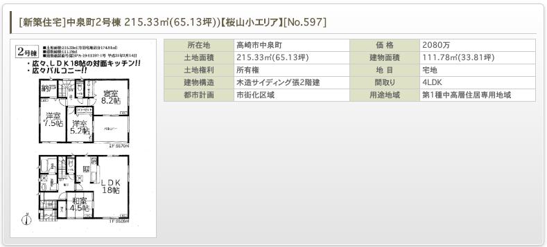 [新築住宅]中泉町2号棟 215.33㎡(65.13坪))【桜山小エリア】 [No.597]